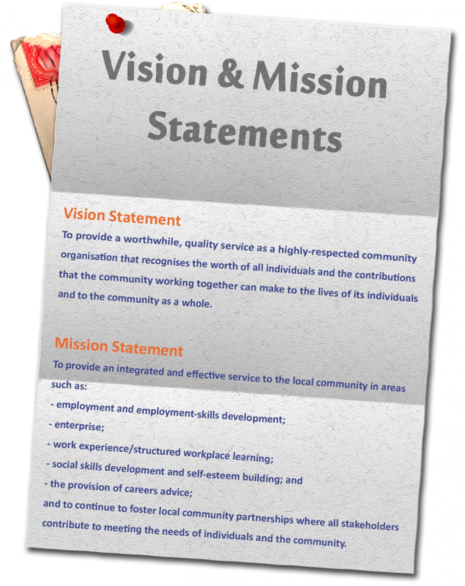 mission statements The mission statement definition itself is often the result of group consensus efforts writing a mission statement is viewed as a valuable team building exercise because mission statements are part of a company's public face, they are also often used in a company's marketing.